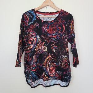 NWOT Westbound print black shirt M
